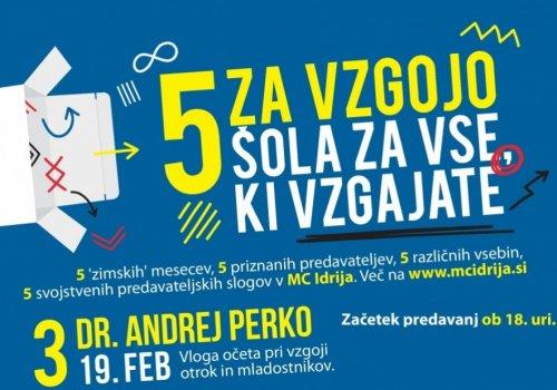 Predavanje: dr. Andrej Perko (19. 2. ob 18h)