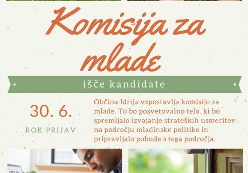 Občina Idrija išče kandidate za Komisijo za mlade