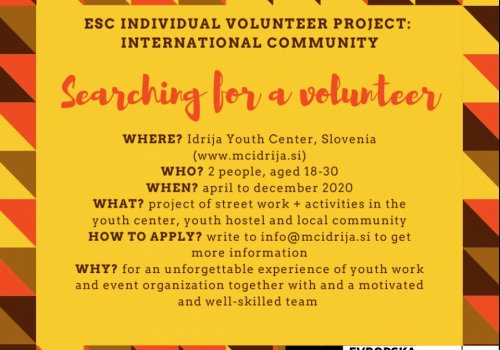 Iščemo mednarodne prostovoljce!
