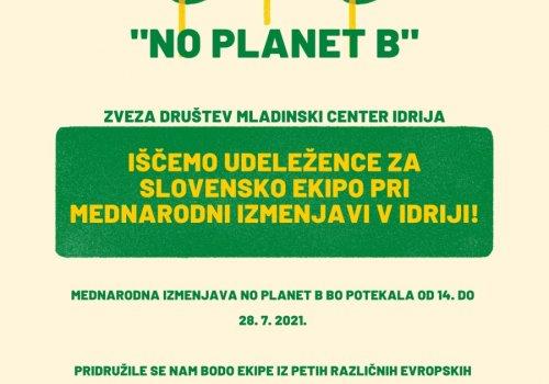 Mladinska izmenjava No planet B v Idriji (14.-28. 7.)
