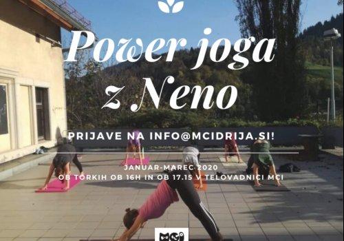 Pridružite se power jogi ob torkih!